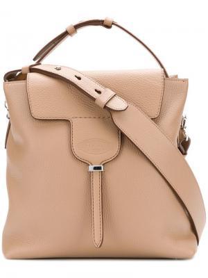 Квадратная сумка-тоут с откидным верхом Tod's. Цвет: нейтральные цвета