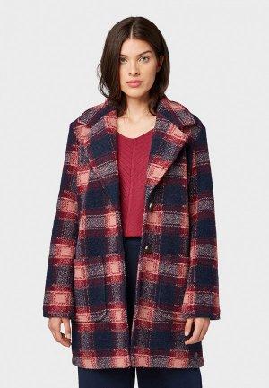 Пальто Tom Tailor. Цвет: разноцветный