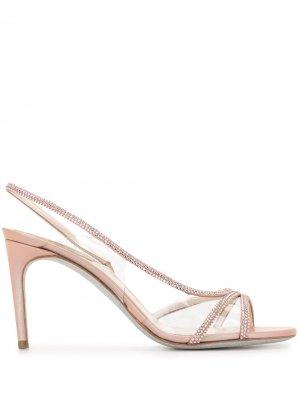 Босоножки с открытым носком René Caovilla. Цвет: розовый