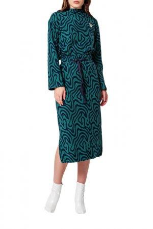 Блуза, юбка BGN. Цвет: emerald