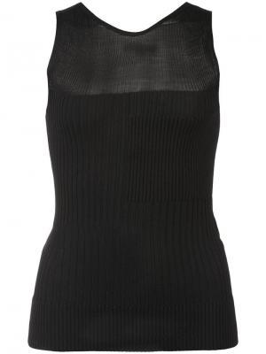 Трикотажное платье в рубчик Narciso Rodriguez. Цвет: черный
