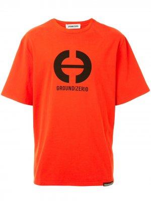 Футболка с логотипом Ground Zero. Цвет: красный