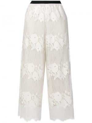 Укороченные кружевные брюки Antonio Marras. Цвет: нейтральные цвета