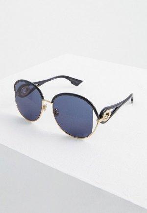 Очки солнцезащитные Christian Dior. Цвет: зеленый