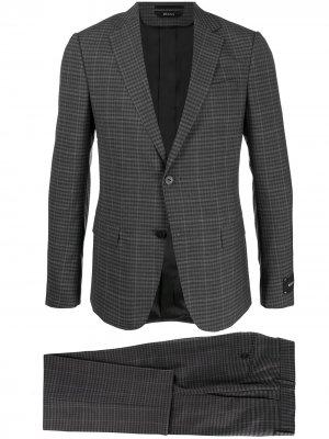 Строгий костюм-двойка Z Zegna. Цвет: серый