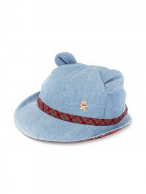 Джинсовая шляпа с декором Familiar. Цвет: синий