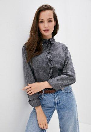 Рубашка джинсовая Twist & Tango. Цвет: серый