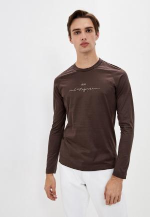 Лонгслив Cortigiani. Цвет: коричневый