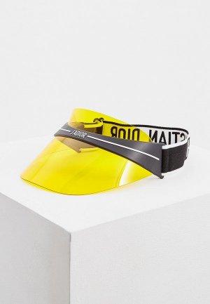 Козырек Christian Dior. Цвет: желтый