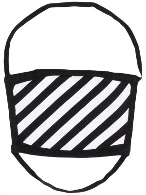 Маска для лица с принтом Diag Off-White. Цвет: черный