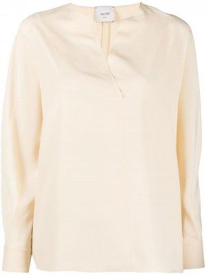 Блузка-трапеция с длинными рукавами Alysi. Цвет: нейтральные цвета