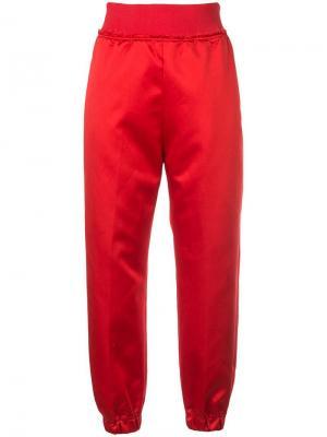 Спортивные брюки с завышенной талией UNDERCOVER. Цвет: красный