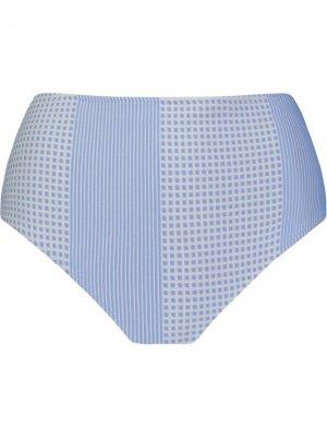 Плавки бикини с геометричным принтом lemlem. Цвет: синий