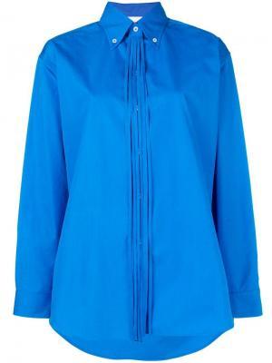 Fringe detail collared shirt Ports 1961. Цвет: синий