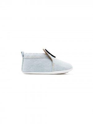 Джинсовые туфли с логотипом Giuseppe Junior. Цвет: синий