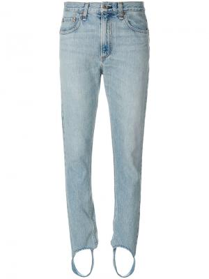 Джинсы Olivia со штрипками Rag & Bone /Jean. Цвет: синий