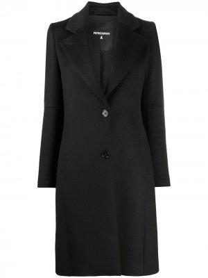 Однобортное пальто миди Patrizia Pepe. Цвет: черный