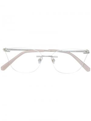 Очки в оправе кошачий глаз Swarovski Eyewear. Цвет: металлик