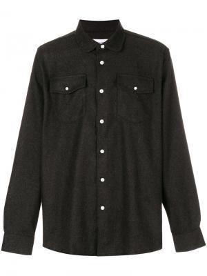 Рубашка с нагрудными карманами Soulland. Цвет: серый