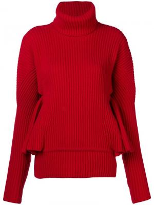 Ruffle sleeve sweater Antonio Berardi. Цвет: красный