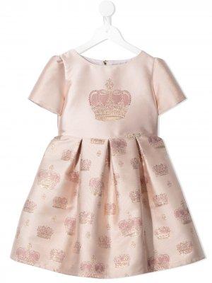 Жаккардовое платье с узором Lesy. Цвет: розовый