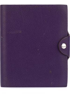 Обложка для блокнота Hermès Vintage. Цвет: фиолетовый