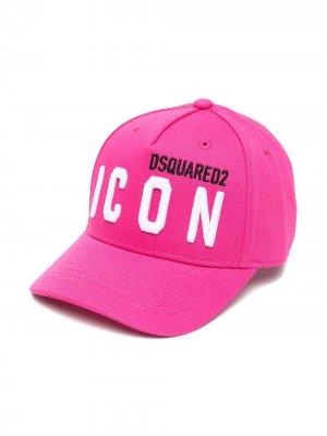 Бейсболка с вышивкой Icon Dsquared2 Kids. Цвет: розовый