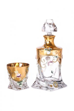 Набор для виски 1,2 л, 300 мл. 6 пер. Bohemia. Цвет: золотой
