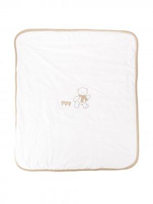 Одеяло с вышитым логотипом Le Bebé Enfant. Цвет: белый