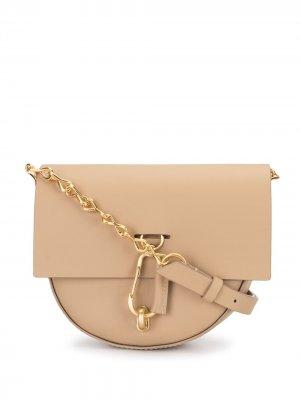 Полукруглая мини-сумка Belay Zac Posen. Цвет: нейтральные цвета