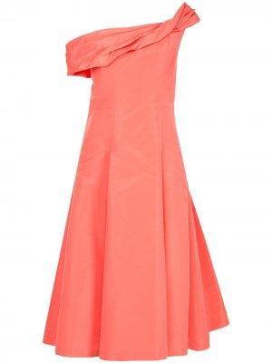 Асимметричное коктейльное платье Carolina Herrera. Цвет: розовый