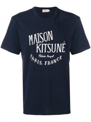 Футболка Palais Royal Maison Kitsuné. Цвет: синий