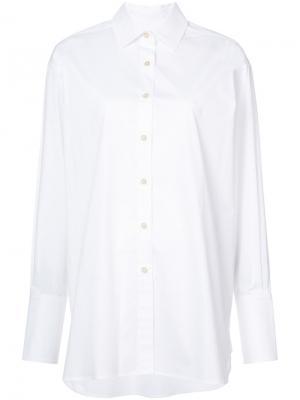 Рубашка с неравномерным подолом Elizabeth And James. Цвет: белый