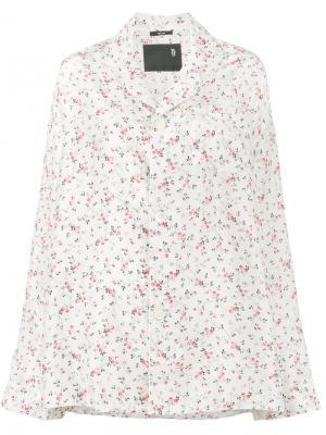 Пижамный топ с цветочным принтом R13. Цвет: телесный