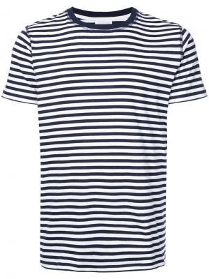 Классическая футболка в полоску Niels Norse Projects. Цвет: синий