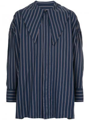 Oversized striped shirt Wooyoungmi. Цвет: синий