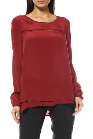 Блуза Comma. Цвет: бордовый