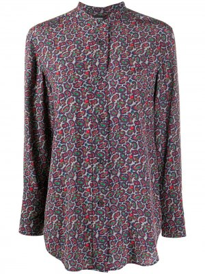 Рубашка с узором пейсли Aspesi. Цвет: серый