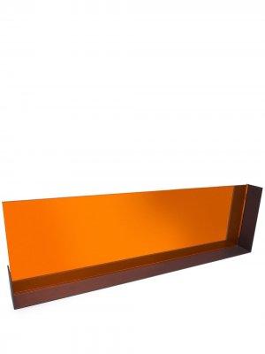 Тонированное зеркало в деревянной раме Tre Product. Цвет: оранжевый