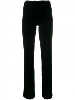 Бархатные расклешенные брюки Blanca Vita. Цвет: черный