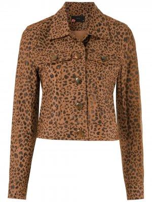 Куртка Onça Eva. Цвет: коричневый