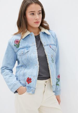 Куртка джинсовая Levis® Levi's®. Цвет: голубой