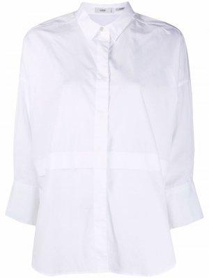 Рубашка с рукавами три четверти и вставками Closed. Цвет: белый