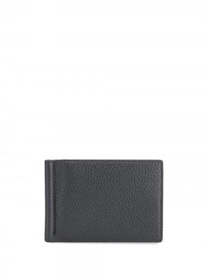 Фактурный кошелек с зажимом для купюр Thom Browne. Цвет: серый