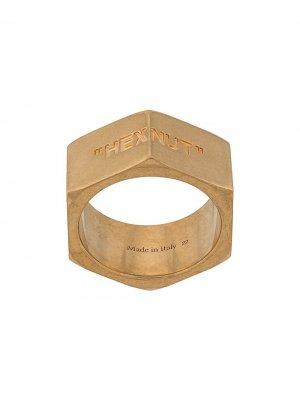 Кольцо Hexnut Off-White. Цвет: золотистый