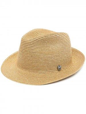 Шляпа в рубчик catarzi. Цвет: нейтральные цвета