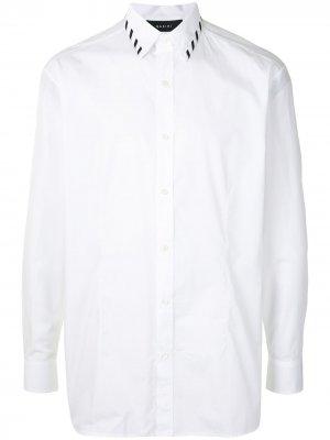 Рубашка с контрастными полосками Qasimi. Цвет: белый