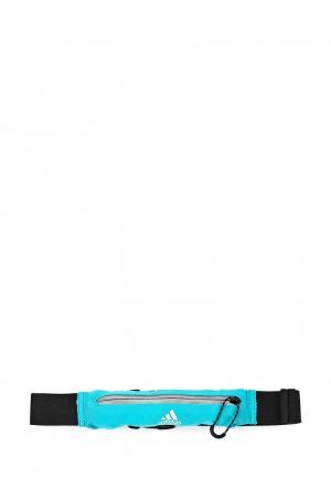 Пояс для бега adidas Performance. Цвет: бирюзовый