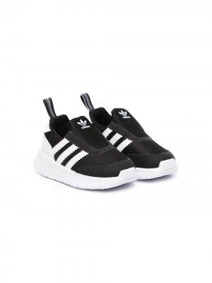 Слипоны ZX 360 adidas Kids. Цвет: черный