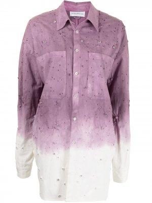 Выбеленная куртка-рубашка Faith Connexion. Цвет: фиолетовый